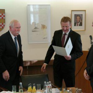 Hermann Leuning, NRW-Innenminister Ralf Jäger, Achim Tüttenberg
