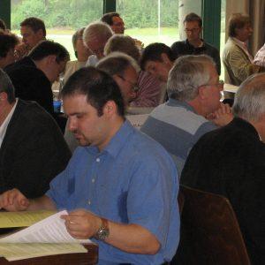 Delegierte beim Kreisparteitag